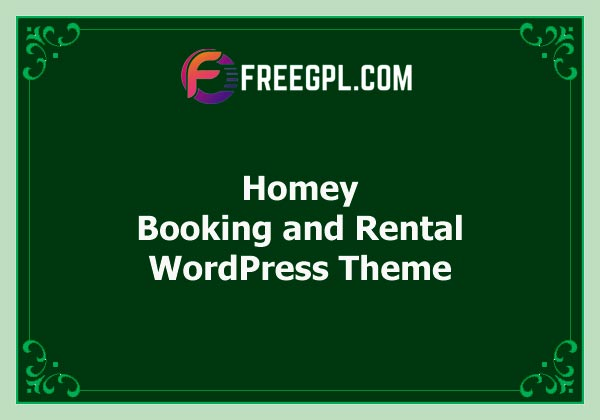 Homey - Booking and Rental WordPress Theme Free Download