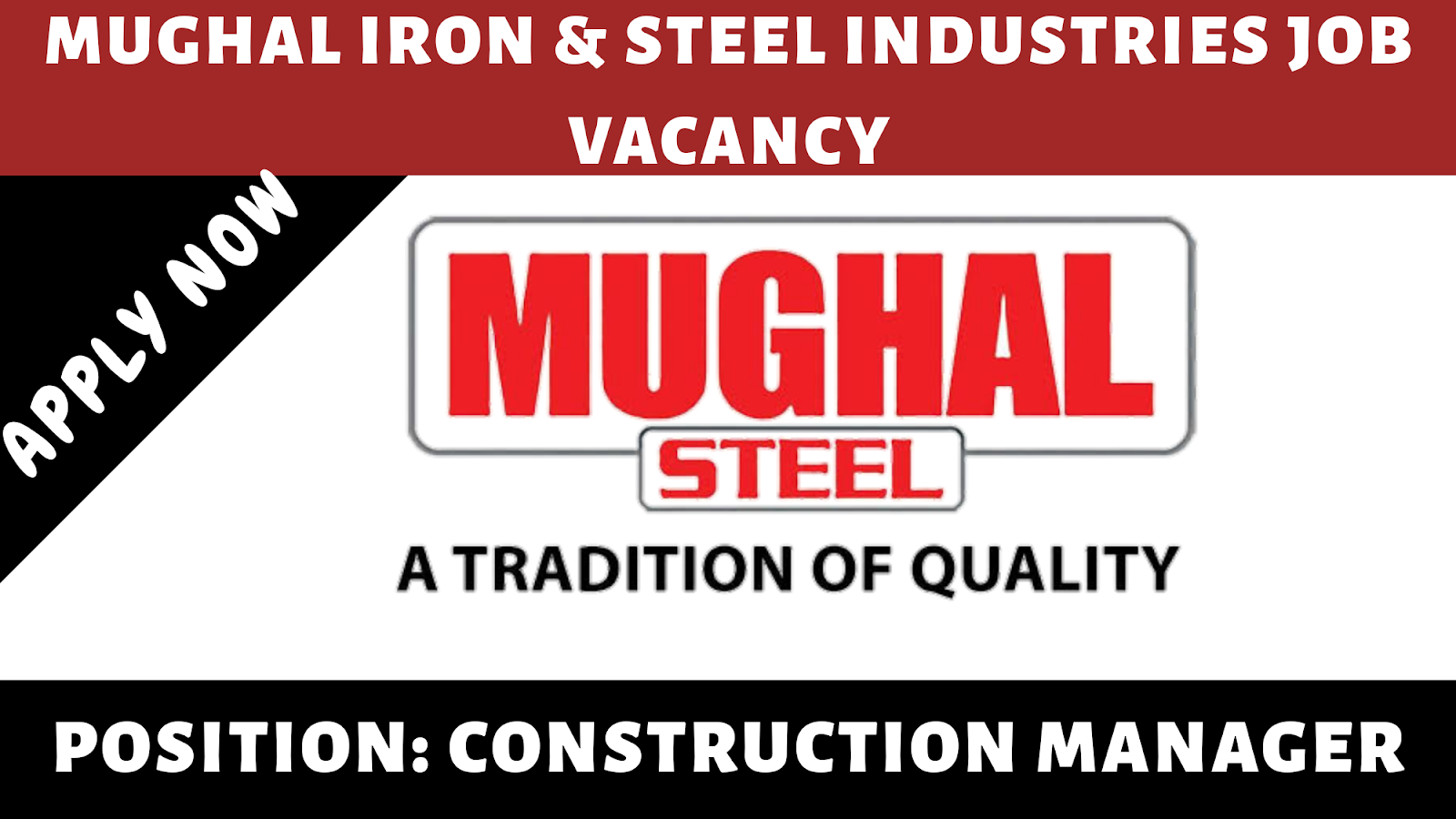 Mughal Iron and Steel Industries Ltd Job 2019 - Engineering