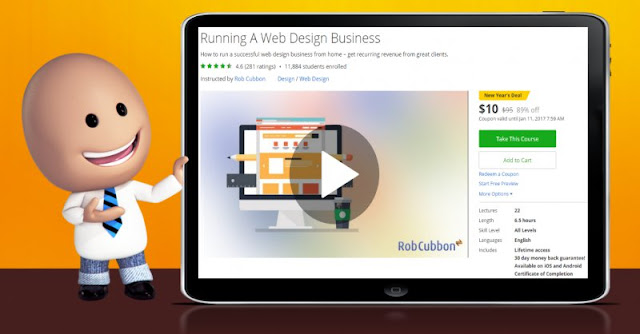 [89% Off] Running A Web Design Business| Worth 95$
