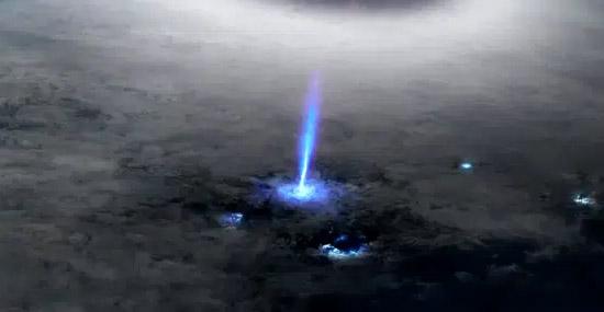 Jato Azul Atmosfera - Capa