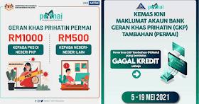 GKP Tambahan : Bantuan Kewangan RM1,000 Untuk PKS Di Negeri PKP & RM500 Untuk Negeri Lain
