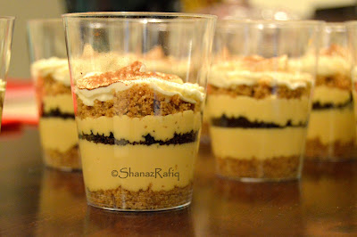 Caramel & Oreo Cheesecake Shots
