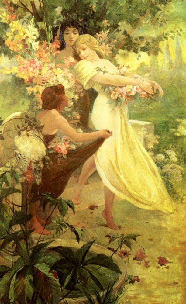 Espírito de Primavera - Alphonse Mucha e suas principais pinturas ~ (Art Nouveau) Tcheco