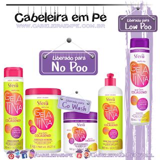 Shampoo (Low Poo), Condicionador, Creme de Hidratação e Creme para Pentear (Liberados para No Poo) Vem na Gelatina que tem Colágeno - Nazca Sfera