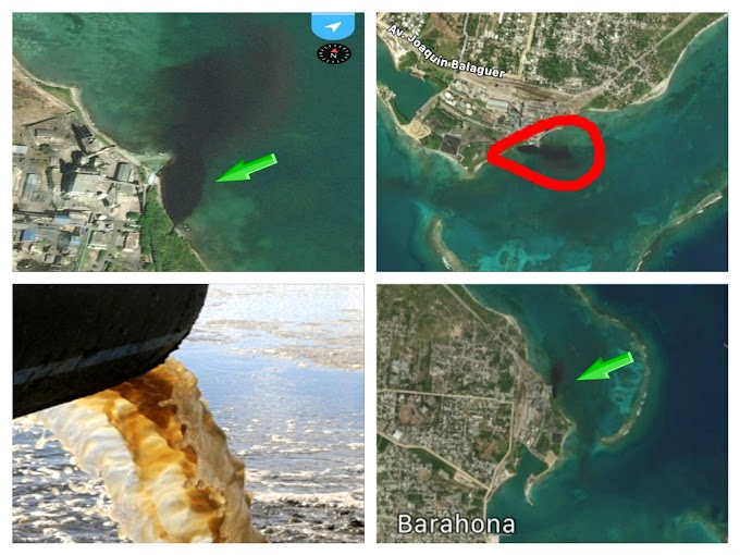 BARAHONA: Denuncian residuos químicos están contaminando las aguas del mar, en el distrito municipal de Villa Central.
