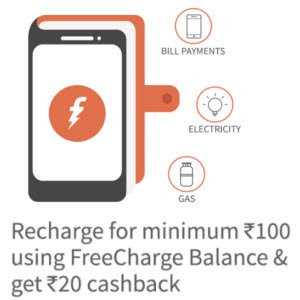 freecharge wallet20