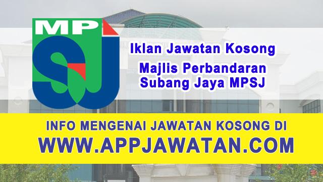Jawatan Kosong di Majlis Perbandaran Subang Jaya MPSJ - 9 Februari 2017
