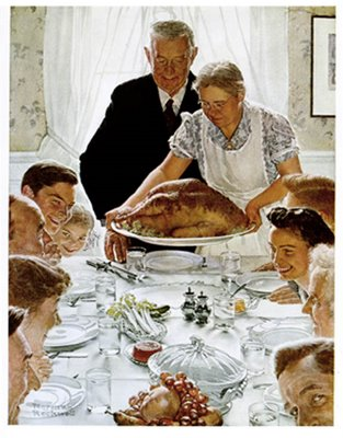 Freedom from Want by Norman Rockwell, an essay about national unity ♥ KitchenParade.com