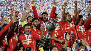 Chile Sanchez Win Copa America 2015
