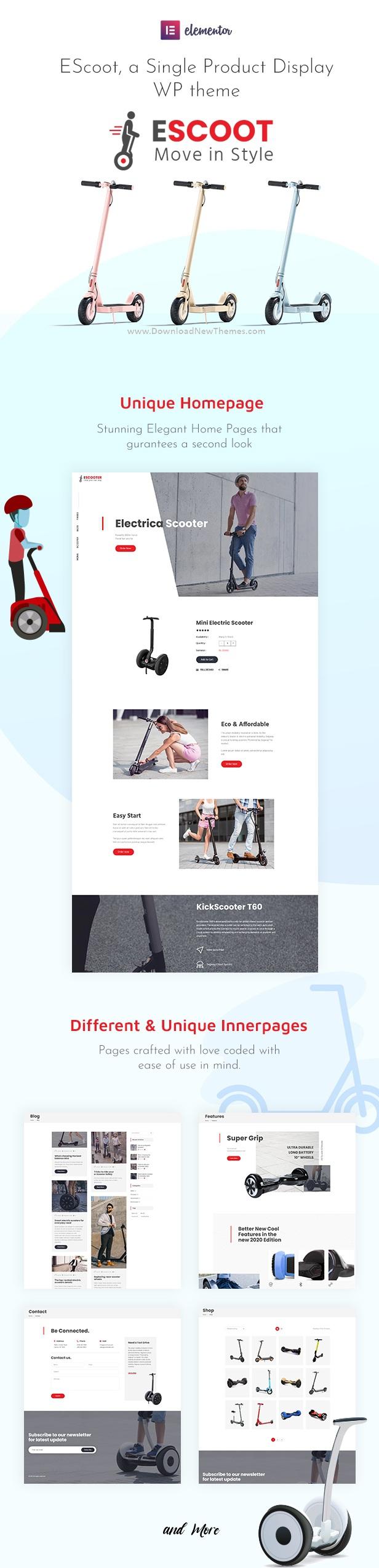 Single Product Online Store WooCommerce WordPress Theme