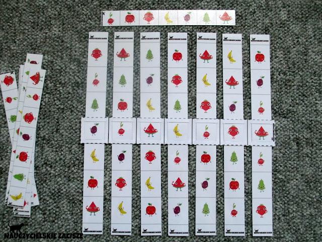 owocowe suwaki do druku za darmo Nauczycielskie zacisze