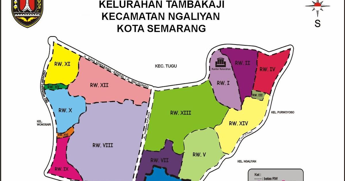Sugeng Rawuh Ing Kelurahan Tambakaji: Peta Wilayah Tambakaji