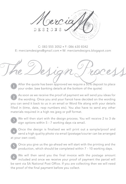 Mercia M Designs: The Design Process and How it works