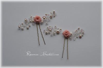 pics chignon roses en porcelaine et cristaux