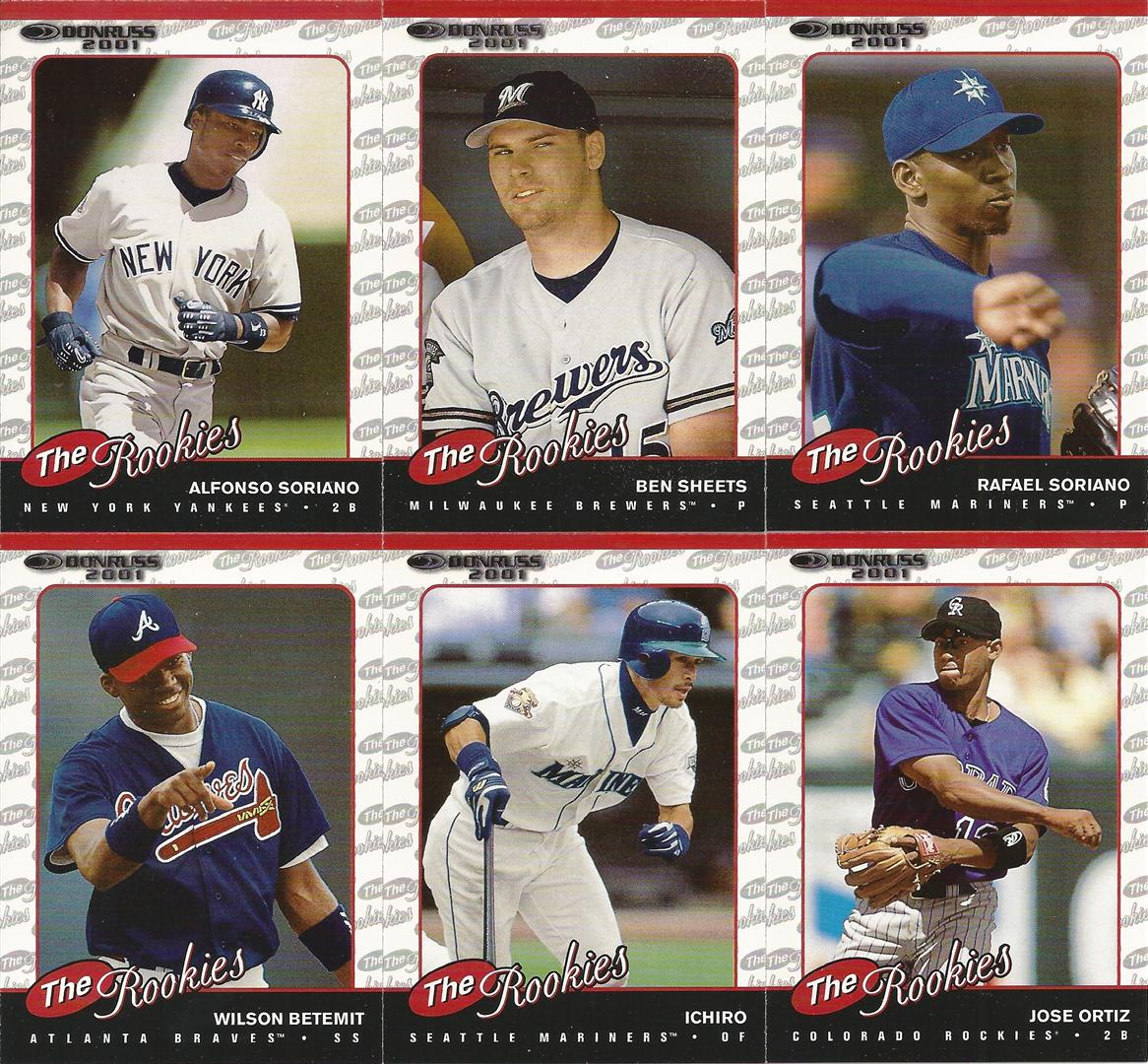 Too Many Verlanders: Complete Sets: 2001 Donruss: The Rookies