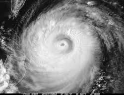Eye of cyclone