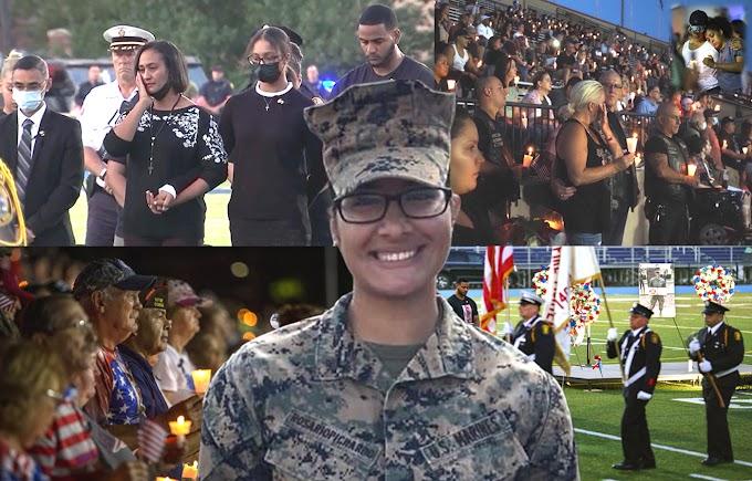Cientos honran memoria de la sargento Johanny Rosario en masiva vigilia en estadio de veteranos en Lawrence