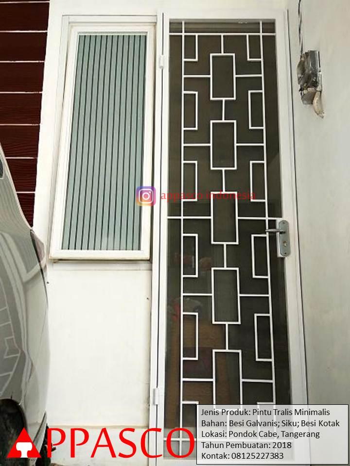 Pintu Teralis Minimalis Buat Pintu Samping Rumah di Pondok Cabe Tangerang