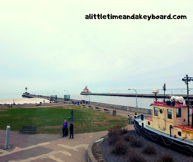 View from the Lake Superior Maritime Visitor Center at Canal Park in Duluth, Minnesota