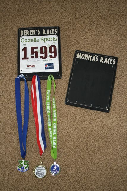 ...day to day with the Wrights...: Running Bib and Medal ...