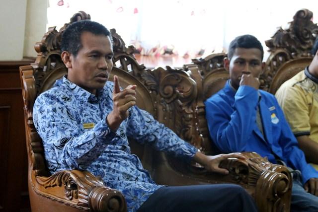 Wawako Pariaman Genius Umar  Dukung PMII Pariaman Gelar Seminar anti Narkoba