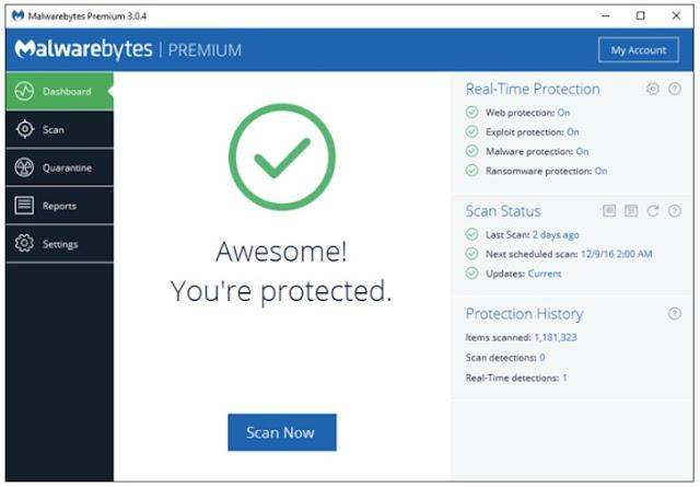 cara mencegah laptop dari malware