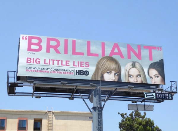 Big Little Lies Brilliant Emmy billboard