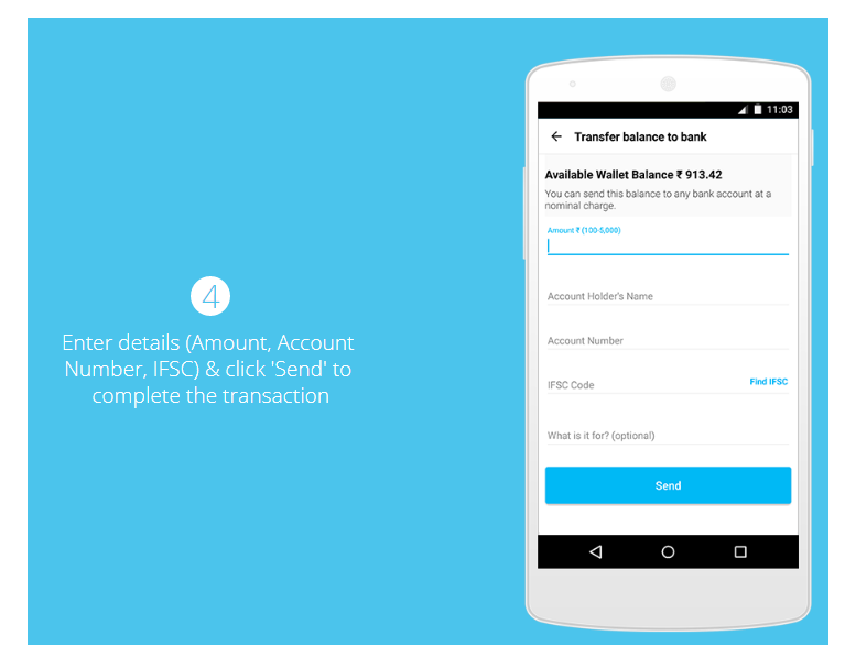 step 4 how to transfer from paytm to bank account without charges