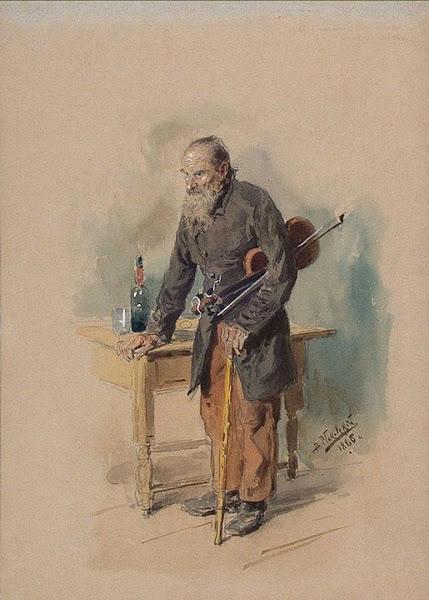 Маковский Владимир Егорович - Бродячий скрипач. 1886