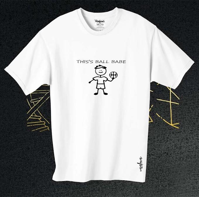 ball babe white T-shirt