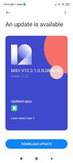 تحديث MI UI 12