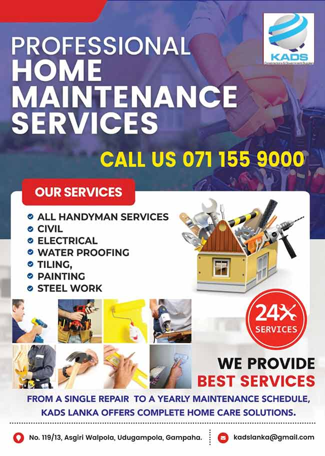 KADS Lanka - Professional Home Maintenance Services.