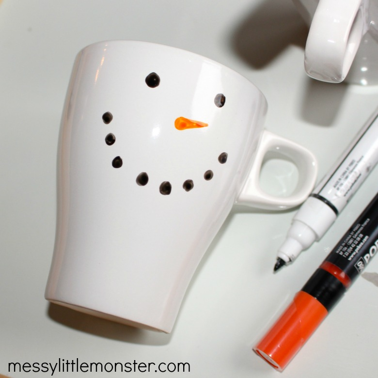 easy snowman craft- diy mug