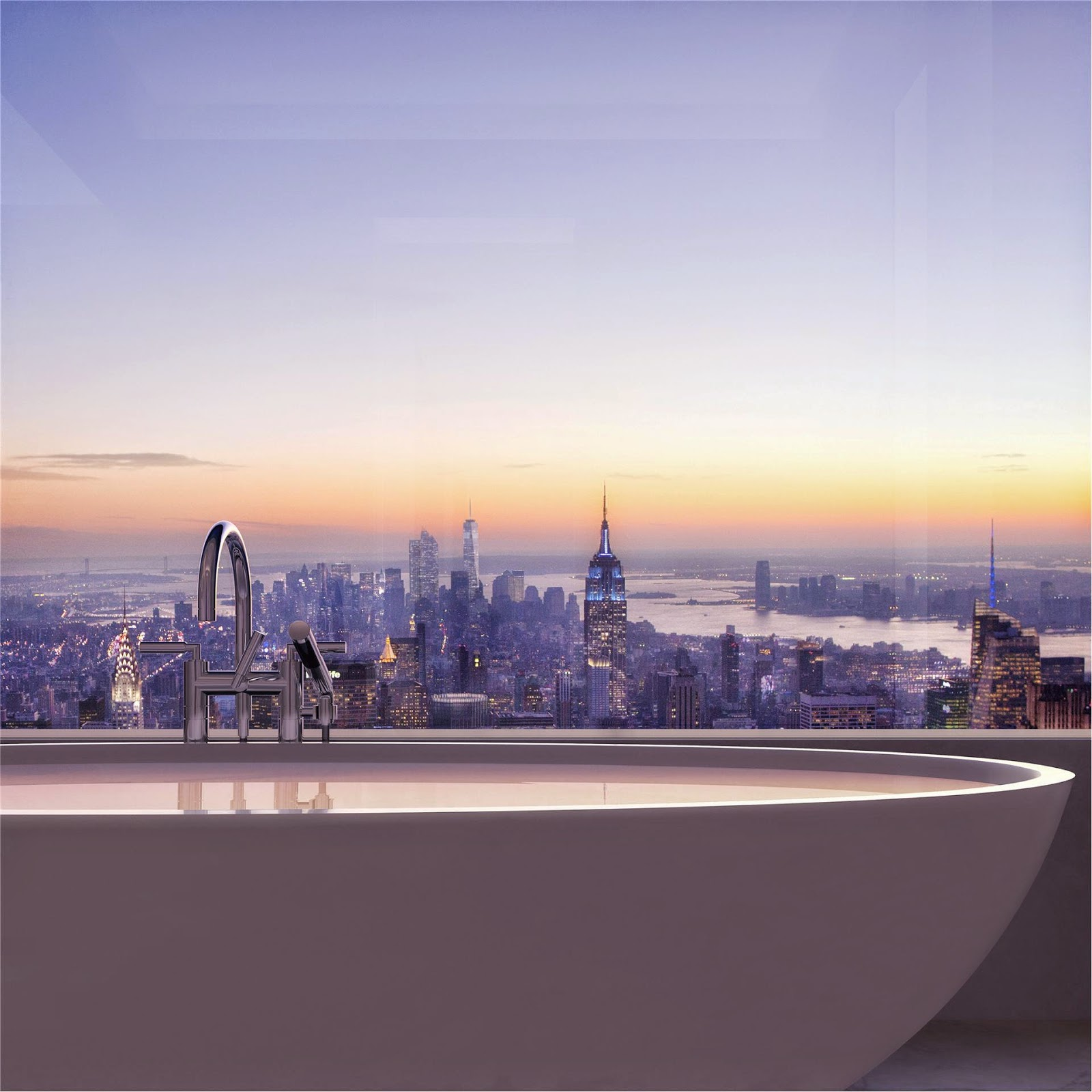 Beautiful Bathrooms Nyc: Passion For Luxury : Glorious 432 Park Avenue Skyscraper