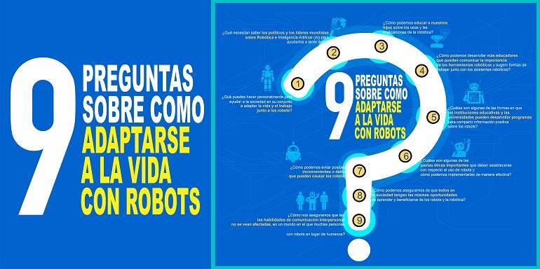 Estas son las 9 Preguntas sobre cómo adaptarse a la vida con robots