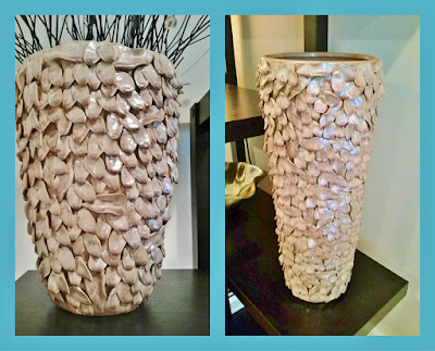 before and after diy painting ceramic vases