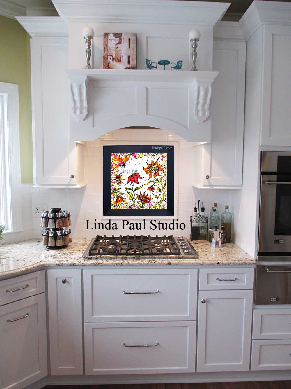 You Also Might Like Linda Paulu0027s Sunflower Party Removable Backsplash Good Looking