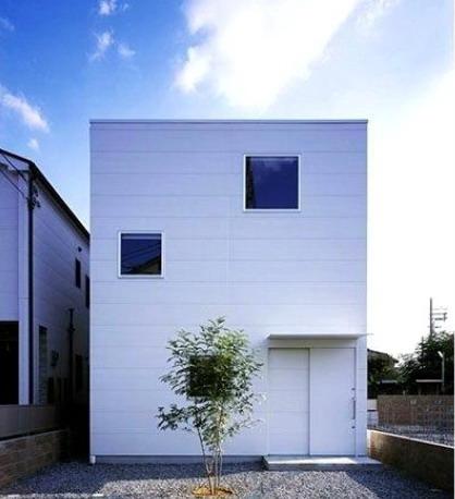 rumah minimalis sederhana berbentuk kotak atau kubus sebagai konsep desain arsitektur