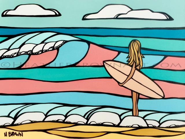 beach house decor of surf girl heather brown
