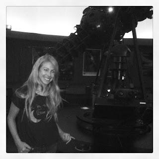 Indigo girl at planetarium