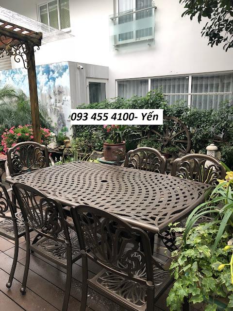 Bàn gế cafe ngoài trời, bán bàn ghế cafe nhôm đúc giá rẻ