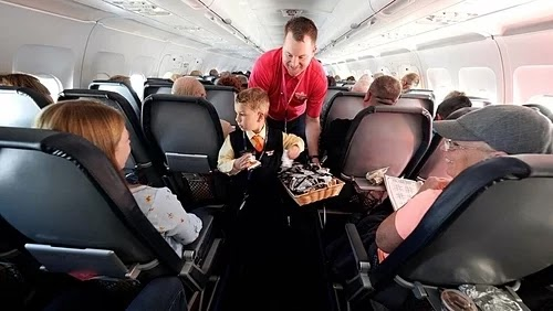 The airline turned the wishes of the child into reality
