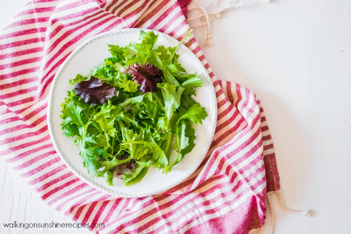 A combination of lettuce is perfect for a summer salad from Walking on Sunshine Recipes.