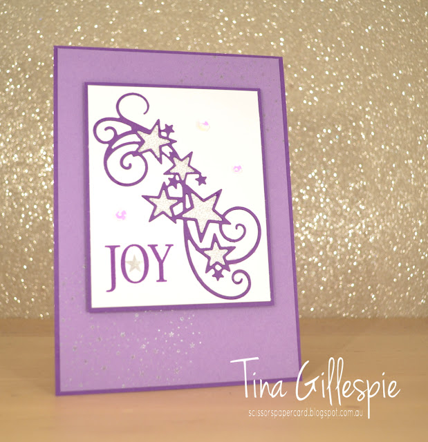 scissorspapercard, Stampin' Up!, Art With Heart, Blog Hop, Christmas, So Many Stars Bundle, Silvery Shimmer Delicata Ink