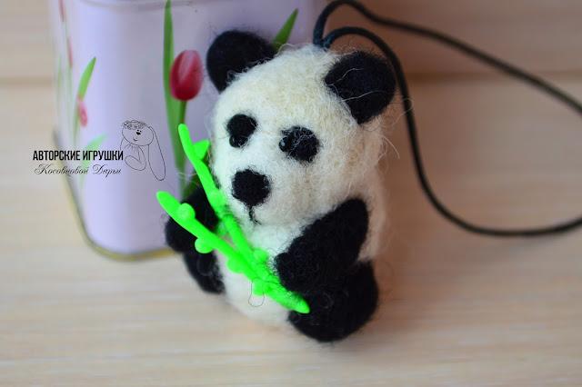 Пандомания и панда из войлока, брошь панда, панда, панда черно белая, панда из шерсти
