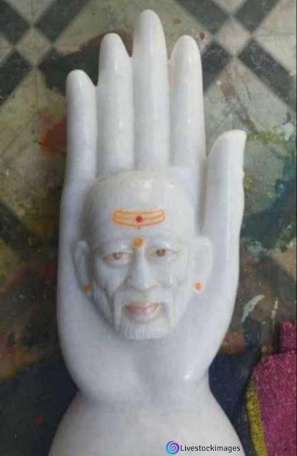 Sai baba images with milkstone