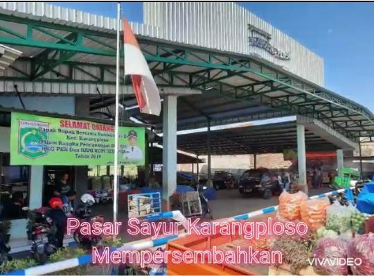 Pasar Sayur Karangploso Mewakili Kabupaten Malang Dalam Ajang Lomba Tingkat Nasional Sebagai Pasar Tematik