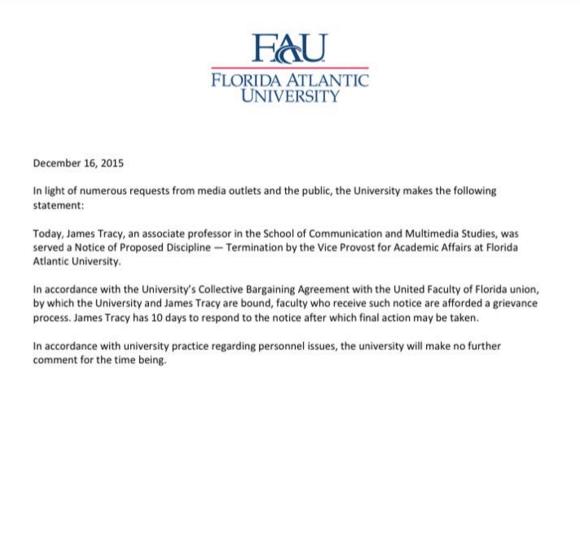 Employment Termination Letter Florida
