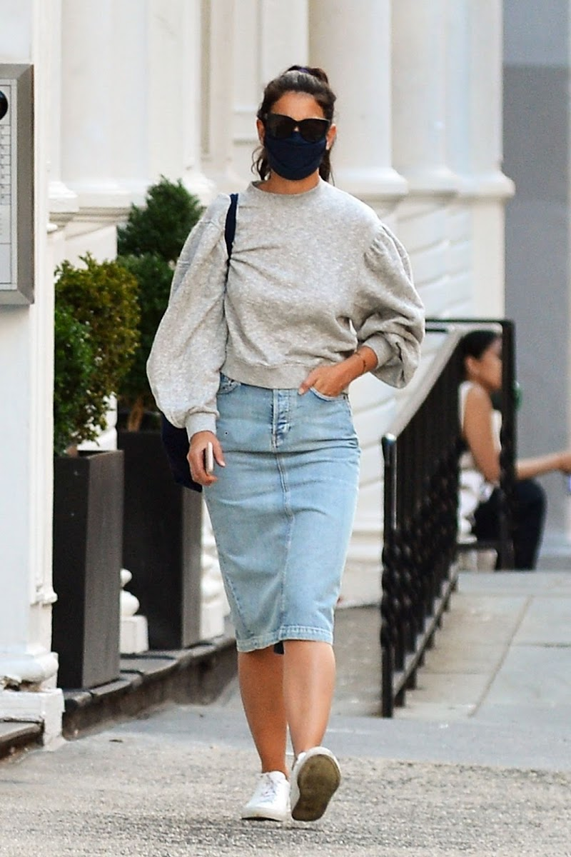 Katie Holmes Clicked Outside in New York 19 Aug -2020