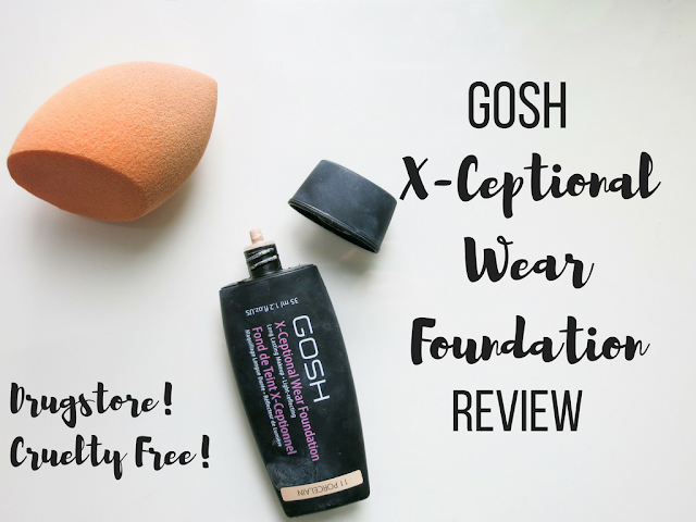 GOSH X-Ceptional Wear Foundation and Real Techniques Sponge